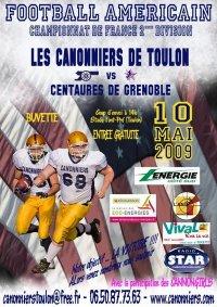 Les canonniers de Toulon rencontrent les Centaures de Grenoble