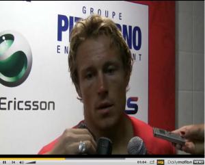 Réaction de Wilkinson et Philippe Saint André après la victoire du RCT sur les Brumbies