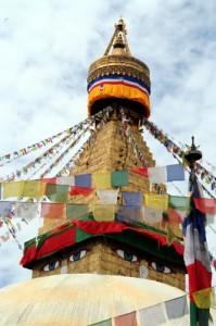 Les drapeaux de prières au Népal