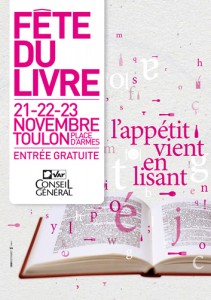 Affiche 2008 de la fête du livre de Toulon