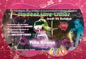 Soirée étudiante Student Love à la Villa Bivona