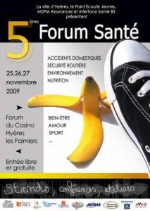 Forum Santé au Casino d'Hyères en novembre 2009