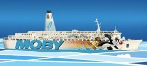 Grosminet sur le bateau de Moby Lines