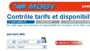 Moby Lines sur Toulon  Bastia dès le mois d'avril 2010