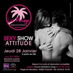 Soirée Sexy Show Attitude à la Plage - Mourillon