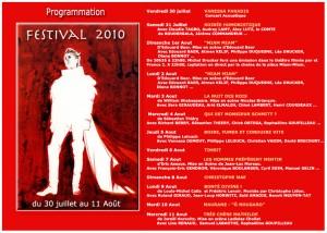Programme Festival Ramatuelle 2010