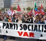 Manifestation contre la réforme des retraites à Toulon