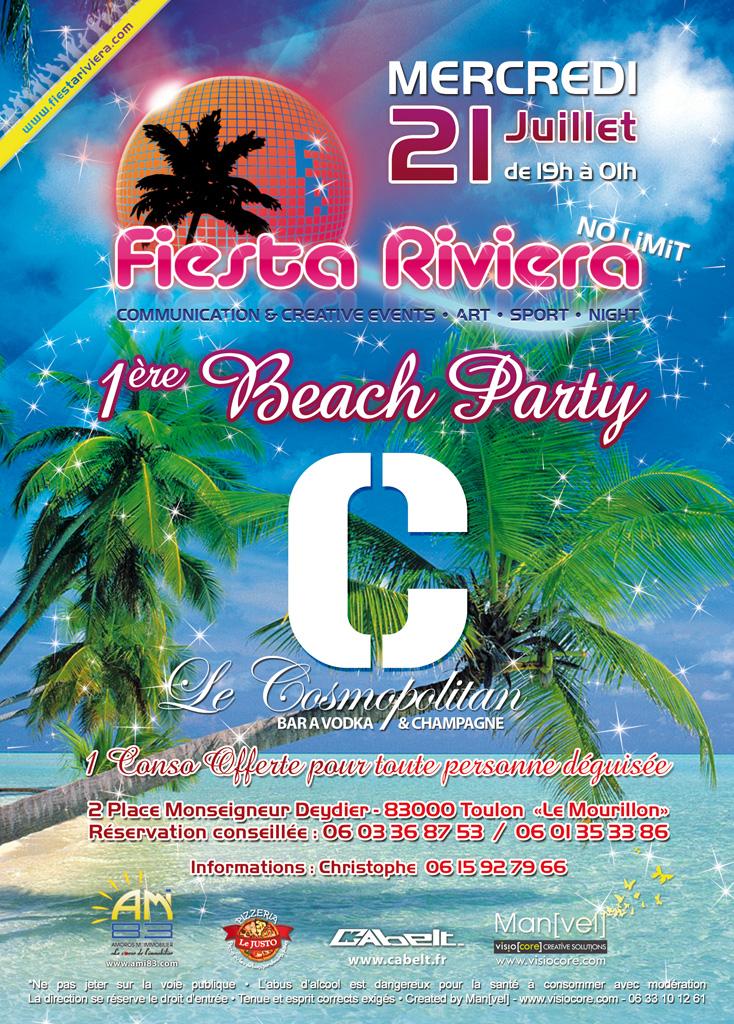 1ère beach party du Cosmopolitan