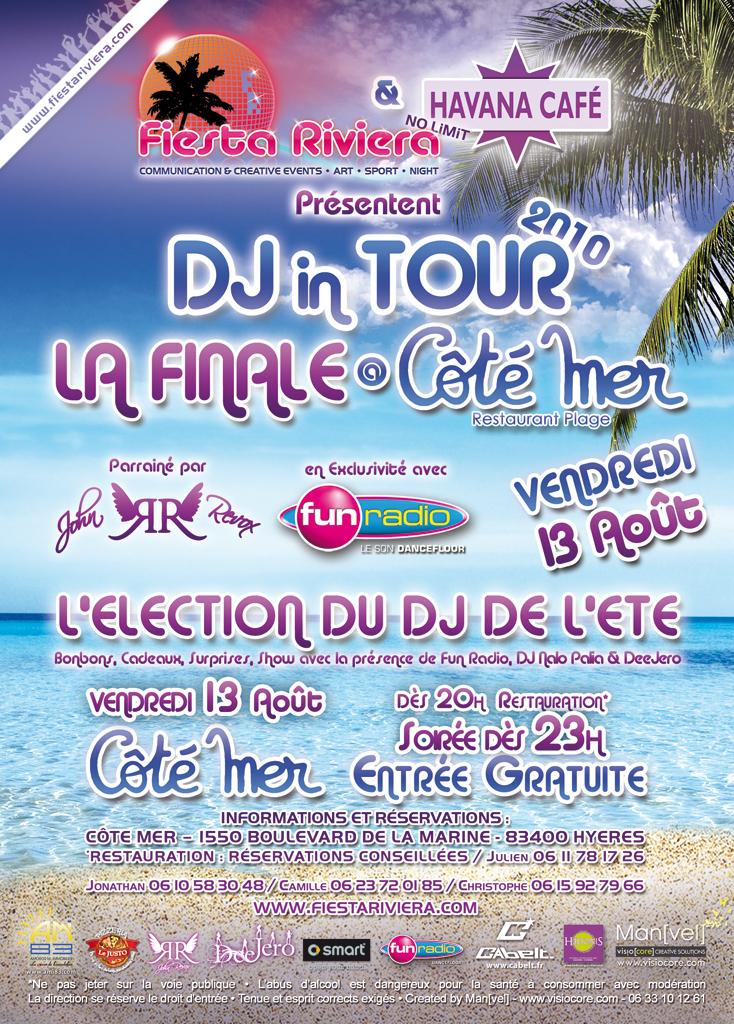 Finale du DJ in Tour 2010 au Coté Mer