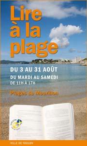Opération Lire à la Plage sur les plages du Mourillon