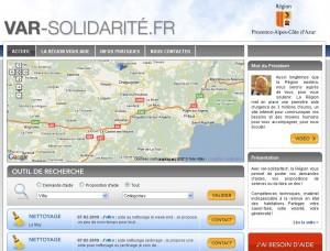 Le portail de la région PACA pour venir en aide aux victimes des inondations de Draguignan
