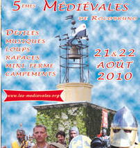 Programme des Mediévales 2010 à Roquebrune