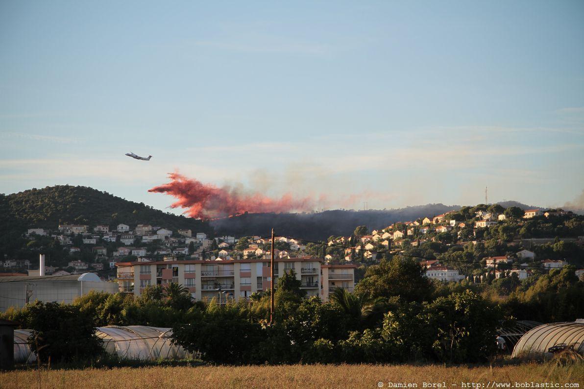 Incendie sur les hauteurs de Hyères en septembre 2010