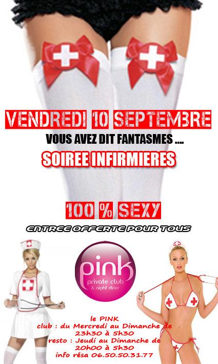 Soirée Infirmières 100% sexy au Pink