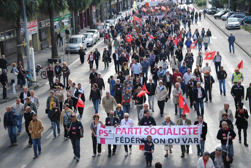 Manifestation du 19 octobre à Toulon et Draguignan