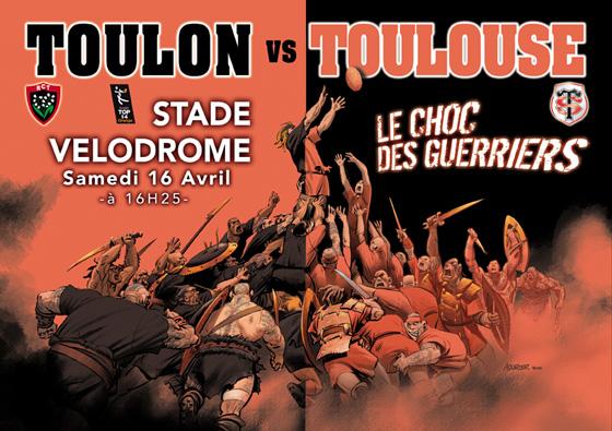 La superbe affiche de TOULON - TOULOUSE au Vélodrome