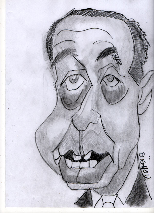 Caricature de Frédéric Mitterrand