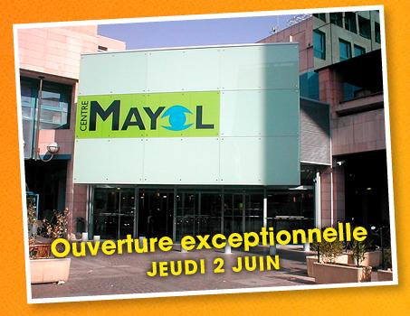 Ouverture exceptionnelle des centres commerciaux le jeudi de l'Ascension 2 juin 2011